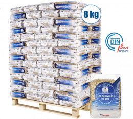Palette de granulés de bois 126 sacs de 8kg