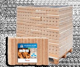 Palette bûches de bois compressé - 112 sacs